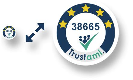 Trustami Vertrauenssiegel Mini in verschiedenen Größen
