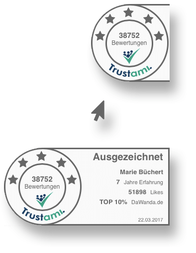 Trustami Vertrauenssiegel Sticker Mouseover