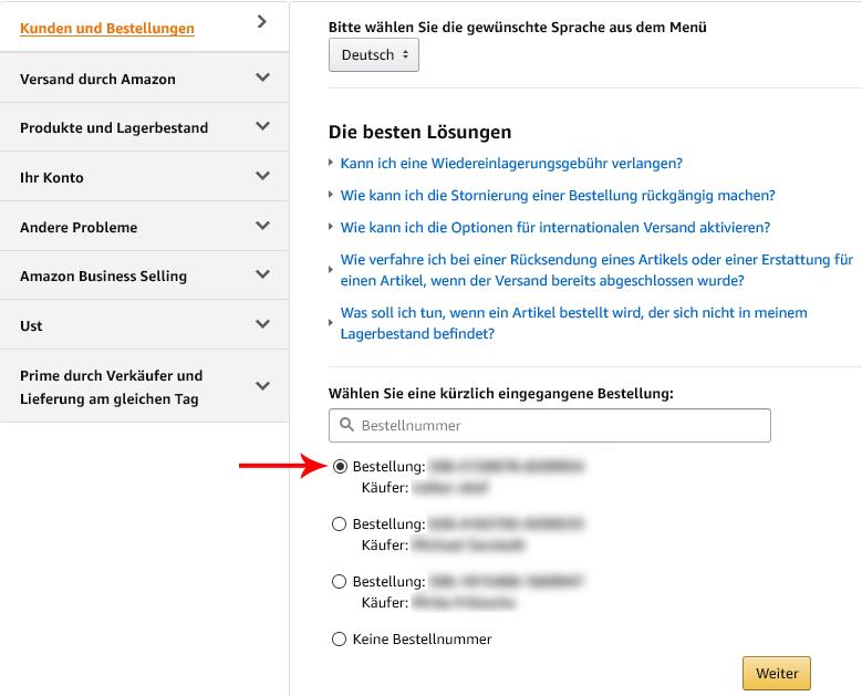 Kundenrezensionen Amazon löschen Beispielbild Anleitung 9