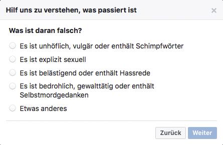 Schlechte Bewertung auf Facebook löschen - Schritt 3