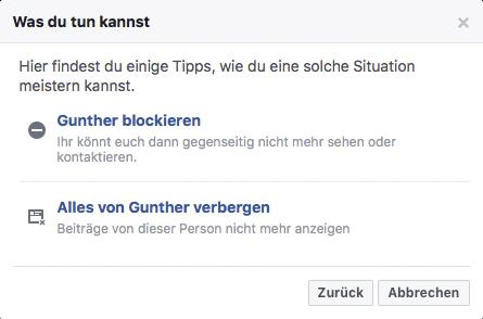 Schlechte Bewertung auf Facebook löschen - Schritt 4