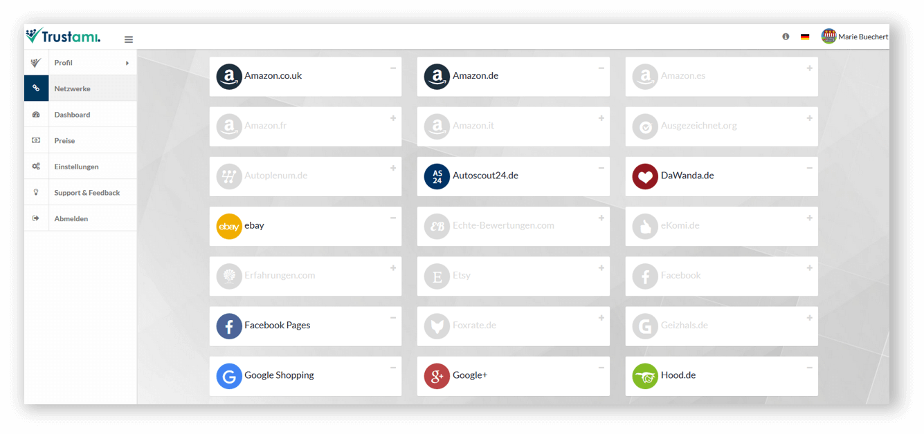 Trustami Profil Netzwerke