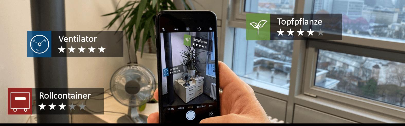 Kundenbewertungen in Augmented Reality