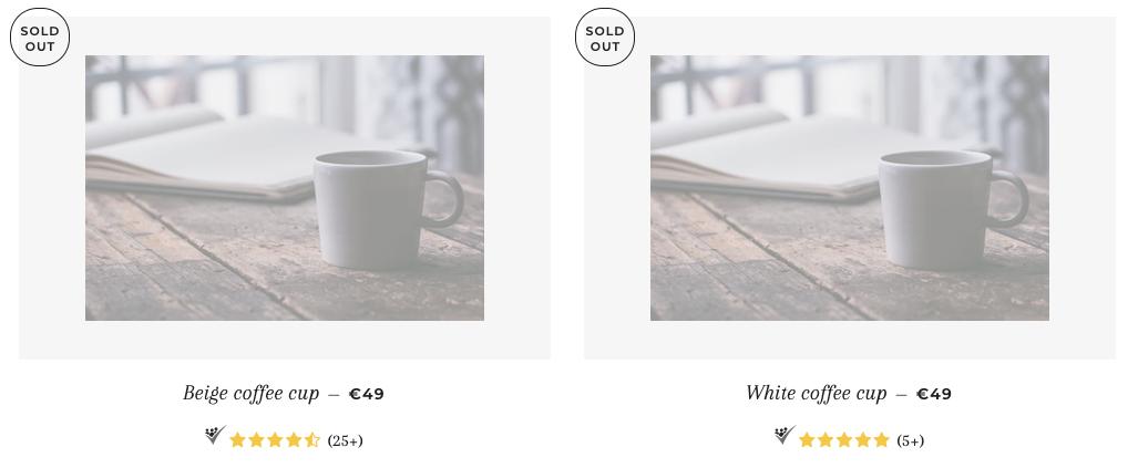 Shopify Produktbewertungen Beispieleinbindung
