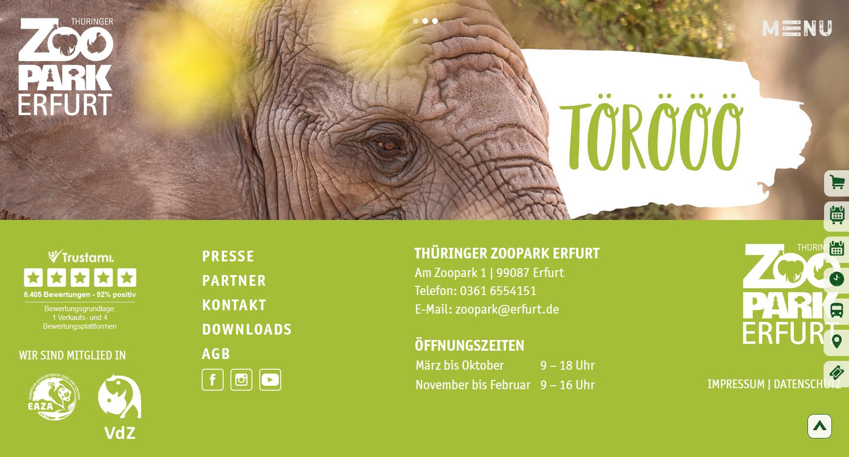 Trustamiparter: Der Zoopark Erfurt